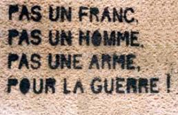 """Résultat de recherche d'images pour """"images pas un franc pas un homme pour la guerre"""""""